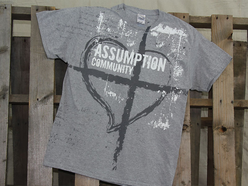 Assumption t-shirt design