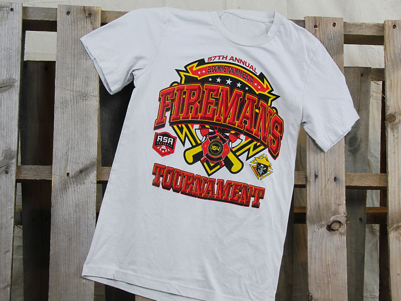 Firemans baseball t-shirt