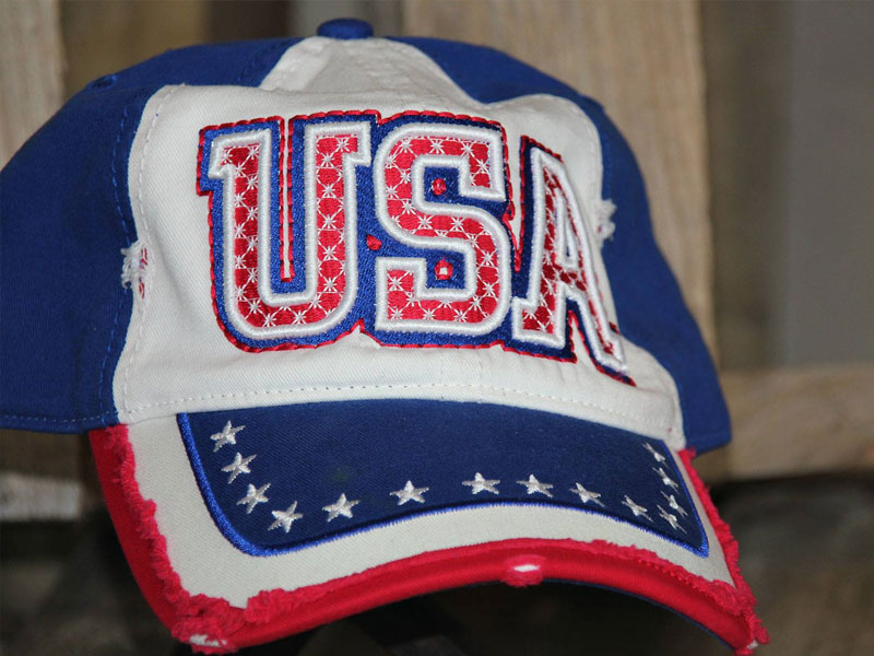 USA Cap with puff embroidery